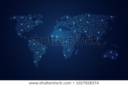 World Map Illuminated Stock photo © idesign