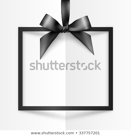 Blanco tarjeta en blanco raso tejido tarjeta Foto stock © jarenwicklund