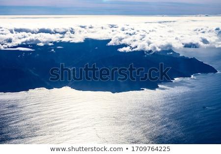 Görmek düzlem İspanyolca ada gökyüzü Stok fotoğraf © compuinfoto