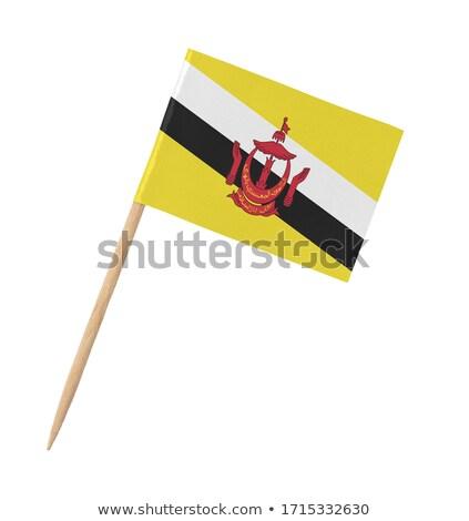миниатюрный флаг Бруней изолированный заседание Сток-фото © bosphorus