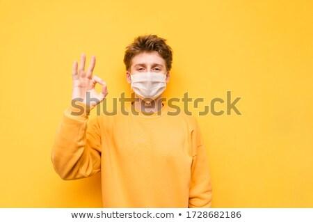 Kócos tinédzser közelkép portré fehér arc Stock fotó © Belyaevskiy