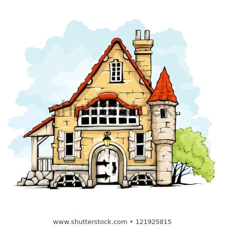 fairytale old house in retro style Stock photo © LoopAll
