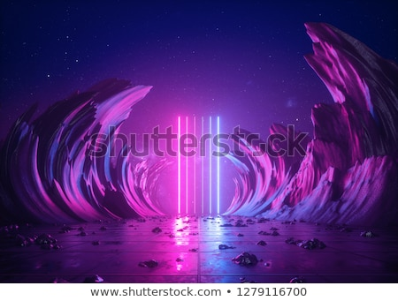 pink and blue round frame with stars stock photo © adrian_n