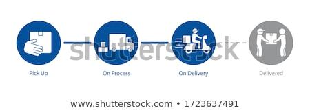 Foto d'archivio: Blue Progress Bar For Order Process