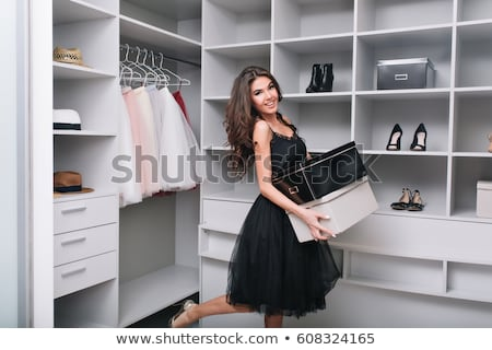 Woman just bought new shoes Stock photo © grafvision