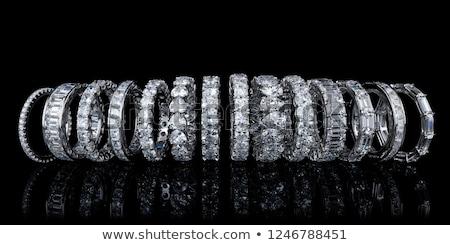 синий кольца подушка белый свадьба любви Сток-фото © KMWPhotography