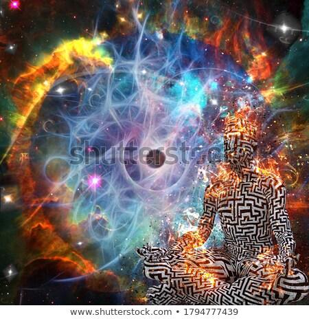 Jogi światło księżyca 3d człowiek pełnia księżyca Zdjęcia stock © Elenarts