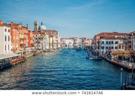 la salute church gondolas grand canal venice italy stock photo © billperry