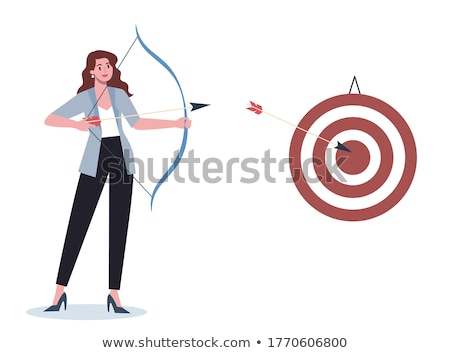 archer shoots at a target Stock photo © mayboro1964