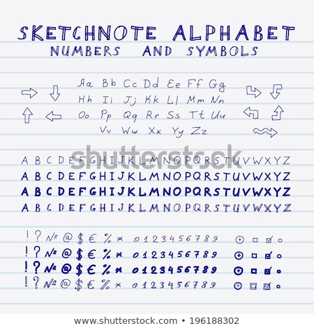 hand writing percent symbol on white paper stock photo © snyfer