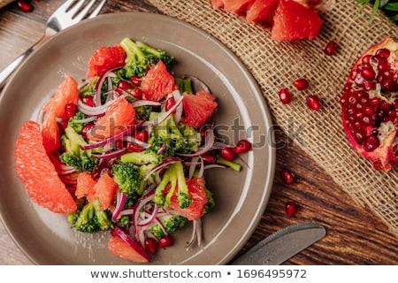 грейпфрут Салат фрукты обеда десерта свежие Сток-фото © M-studio