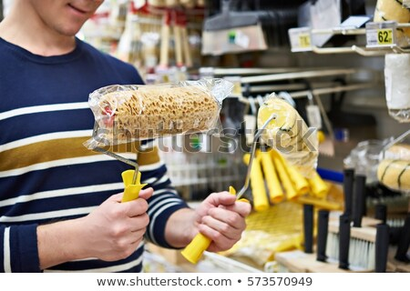 Painter brush sponge paint rollers cleaning Stock photo © lunamarina