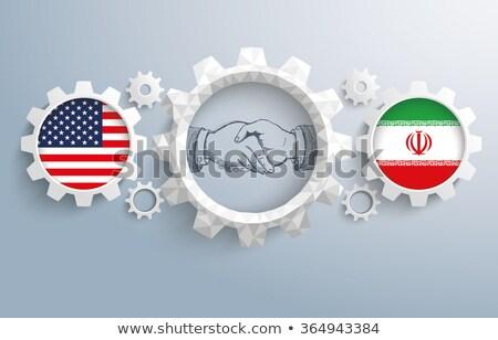 Bandeira Irã mão cor país estilo Foto stock © claudiodivizia
