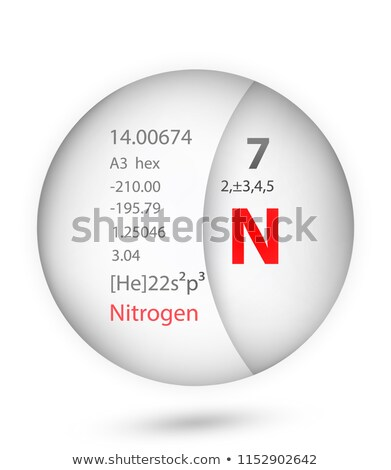 symbol for the chemical element nitrogen stock photo © zerbor