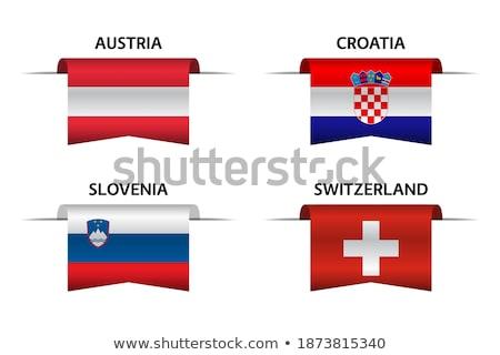 Ayarlamak düğmeler Slovenya parlak renkli Stok fotoğraf © flogel