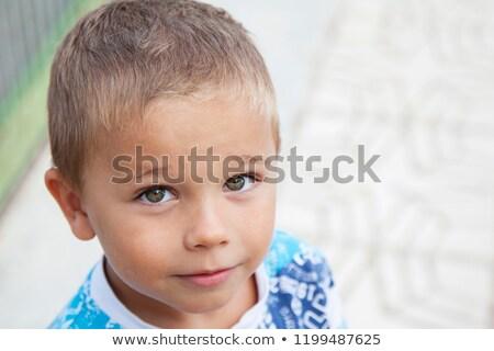 Portre üzücü bebek erkek bakıyor kamera Stok fotoğraf © ryhor