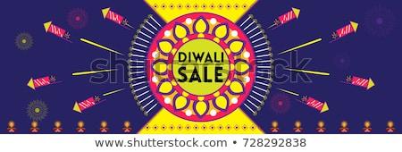 mooie · diwali · festival · heldere · kleurrijk · vector - stockfoto © bharat