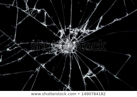 ストックフォト: 割れたガラス · ガラス · 壊れた · 亀裂 · バス · 駅