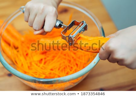 Shredded red and yellow carrots Stock photo © Catuncia