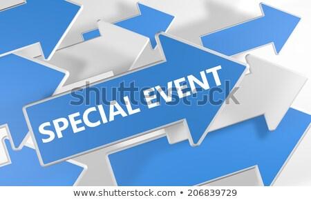 特別イベント 青 矢印 スローガン グレー 作業 ストックフォト © tashatuvango