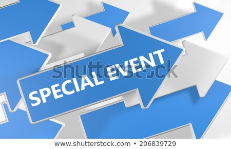 Evento speciale blu arrow slogan grigio lavoro Foto d'archivio © tashatuvango