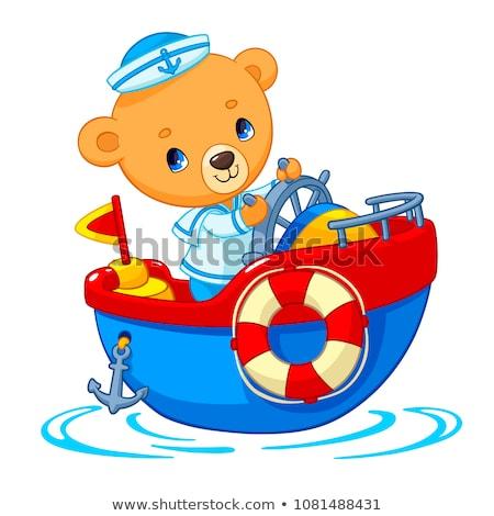 Cartoon kinderen schip ontwerp kleurrijk illustratie Stockfoto © adrian_n