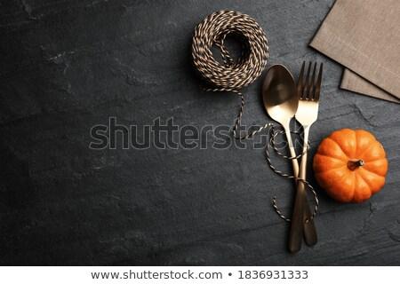 pumpkin and rope foto stock © prill