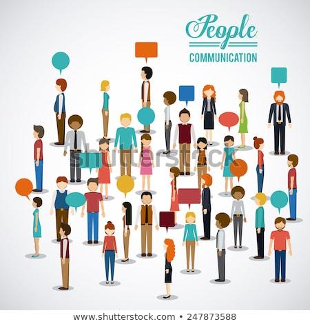 разговор люди профиль вектора человека дизайна Сток-фото © burakowski