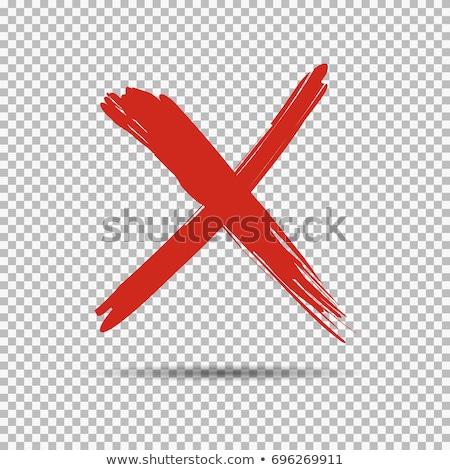 Grunge assinar vetor atravessar carimbo pergunta Foto stock © burakowski