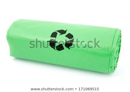 basura · bolsas · aislado · blanco · fondo · limpieza - foto stock © grazvydas