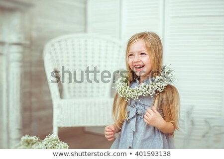 Little girl with coronet Stock photo © przemekklos