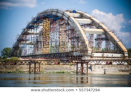 новых моста дуга строительная площадка здании строительство Сток-фото © goce