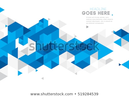 Stock photo: Abstract triangle mosaic background
