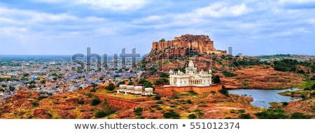 jaswant thada mausoleum in india   panorama stock photo © mikko