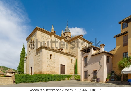 Santa Maria Church Wall Alhambra Granada Andalusia Spain Stock photo © billperry