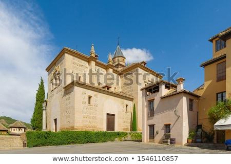 alhambra · Spagna · mondo · giardino · blu · castello - foto d'archivio © billperry