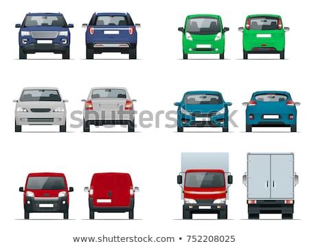 Lado cinza carro sedan estrada Foto stock © leonido