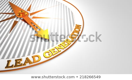 Lead Generation on White with Golden Compass. Stock photo © tashatuvango