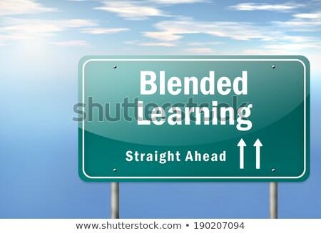 on-line · aprendizagem · palavras · cruzadas · escolas · educação · caixa - foto stock © tashatuvango