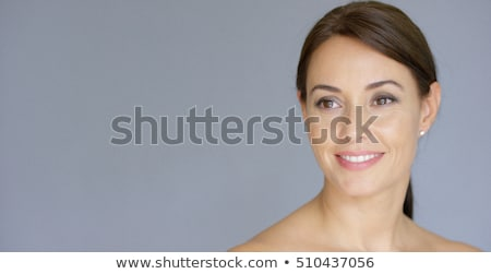 Portrait of Brunette Woman with Bare Shoulders Stock photo © dash