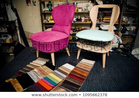 Szövet kárpit bútor minták szín textúra Stock fotó © smuki