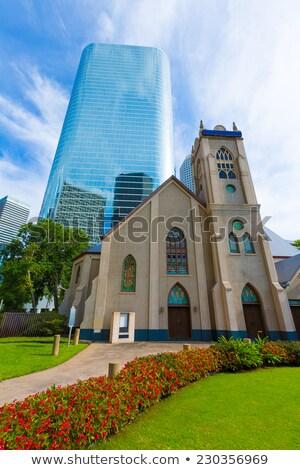 Houston cityscape Antioch Church in Texas US stock photo © lunamarina