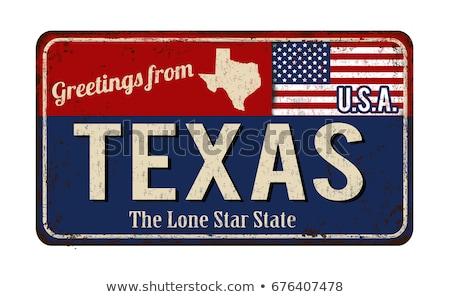 bayrak · Teksas · örnek · katlanmış · star · kırmızı - stok fotoğraf © andreykr