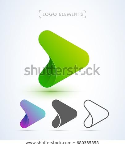Сток-фото: дизайна · треугольник · логотип · вектора · шаблон · набор