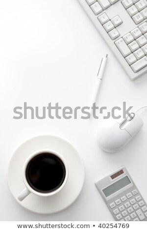 Teclado calculadora papelería trabajo proceso Foto stock © robuart