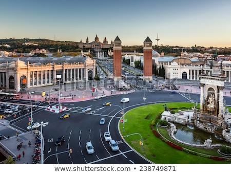 légifelvétel · domb · művészet · múzeum · Barcelona · Spanyolország - stock fotó © anshar