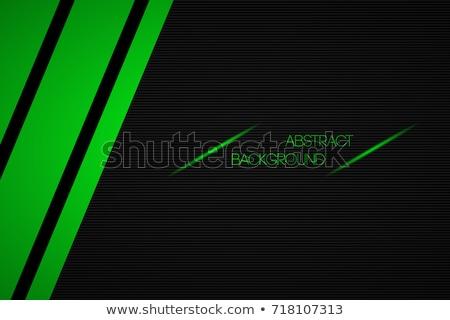 Abstract mezzitoni verde nero design onda Foto d'archivio © aliaksandra