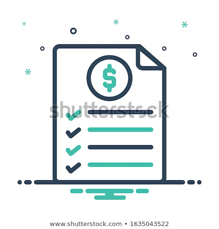 Invoice details Stock photo © simply