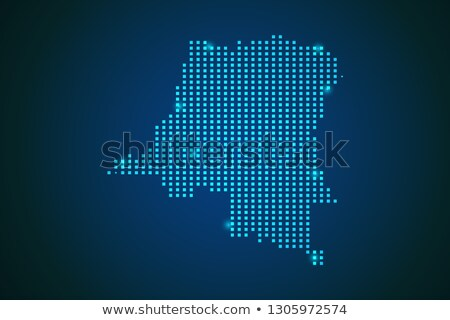 Map of Republic of Angola with with Dot Pattern Stock photo © Istanbul2009