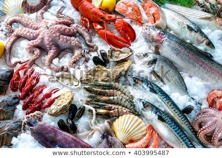 hal · piac · különböző · tengeri · hal · polcok · tenger - stock fotó © mikdam
